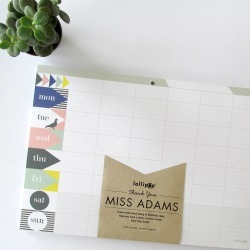 Personalised Weekly Planner Pad  Pastel