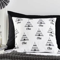 Teepee Monochrome Personalised Cushion