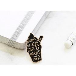 Ice Cream Gold Enamel Pin