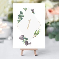 Delicate Foliage Table Numbers