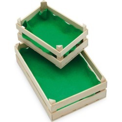 Toy Wooden Fruit And Vegetable Crate