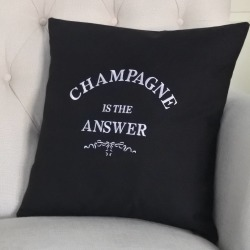 Champagne Is The Answer Cushion Personalised Cushion