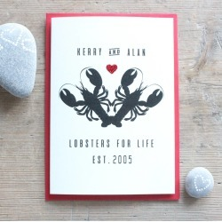 Personalised Lobsters For Life Card