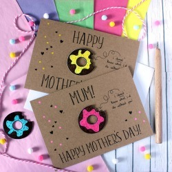 Personalised Donut Mother's Day Card, Card For Mum