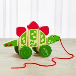 Personalised Pull Along Wooden Dinosaur Kids Toy