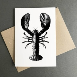 Lobster Card With Kraft Envelope. Eco Friendly