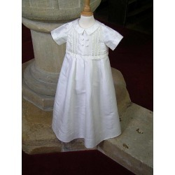 Christening Gown And Romper 'Fulham White'