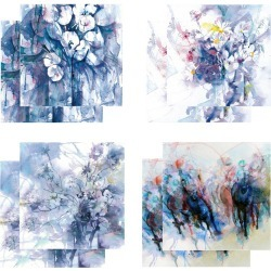 Eight Fine Art Watercolour Gift Cards Pack B found on Bargain Bro UK from Notonthehighstreet.com for $19.45