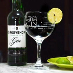 Personalised Gin Balloon Glass For Mum found on Bargain Bro UK from Notonthehighstreet.com