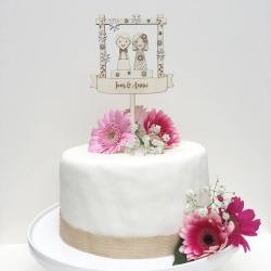 Personalised Winter Wedding Cake Topper