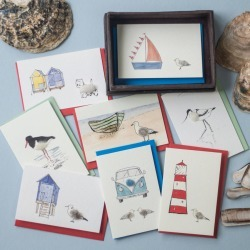 Eight Handmade Seaside Gift Cards, Beautifully Boxed found on Bargain Bro UK from Notonthehighstreet.com for $21.88