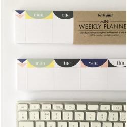 Mini Keyboard Weekly Planner Pad