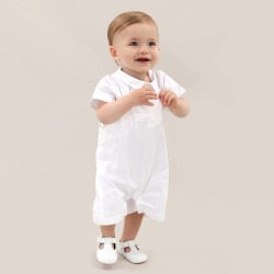 Baby Boy French Designer White Christening Outfit