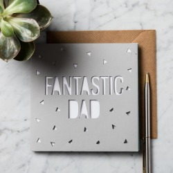 Personalised Father's Day Papercut Card