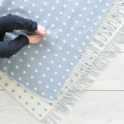 Kirkby Lambswool Spot Baby Blankets