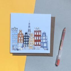 Amsterdam Skyline Greetings Card