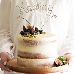 Hooray Wire Wedding Cake Topper