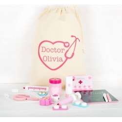 Wooden Doctors Set With Personalised Storage Bag