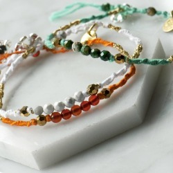 Real Stone Colourful Friendship Stacking Bracelets