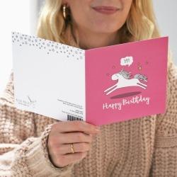 Yay! Unicorn Birthday Card