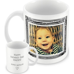 Personalised Mug, Vintage Frame Photo