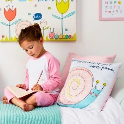 Children's Personalised Pastel Snail Cushion