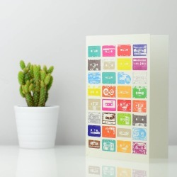 Mix Tapes Greetings Card