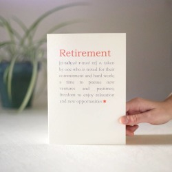 Personalised Retirement Definition Card