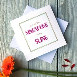 Personalised Singapore Sling Card
