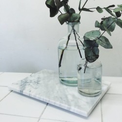 White Marble Display Trays