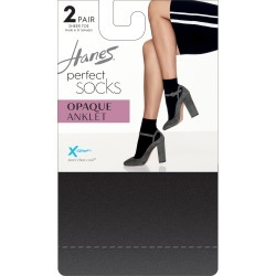 Hanes Perfect X-Temp Opaque Anklet Socks 2-Pack Grey 2 Women's found on Bargain Bro Philippines from onehanesplace.com for $6.00