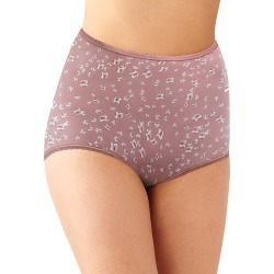 Bali Skimp Skamp Brief Panty Smokey Floral Purple Print 7 Women's found on Bargain Bro India from onehanesplace.com for $6.98