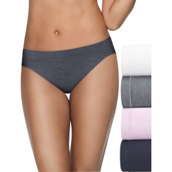Hanes Ultimate Cool Comfort Women's Bikini Panties 4-Pack White/Mountain Heather/Violet Navy 5 found on Bargain Bro Philippines from onehanesplace.com for $14.40