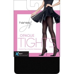 Hanes X-Temp Opaque Control Top Tights with Comfort Waistband Black S Women's found on Bargain Bro Philippines from onehanesplace.com for $6.00