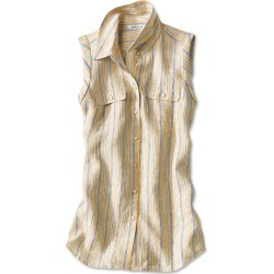 Lightweight Linen Sleeveless Striped Shirt found on Bargain Bro Philippines from Orvis for $69.00