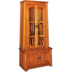 Quarter-sawn Oak Gun Cabinet found on Bargain Bro India from Orvis for $5995.00