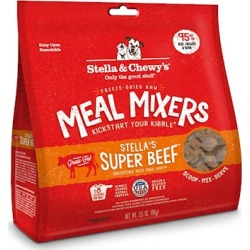 Stella & Chewy's Freeze Dried Raw Stella's Super Beef Meal Mixers Grain Free Dog Food Topper 35-oz