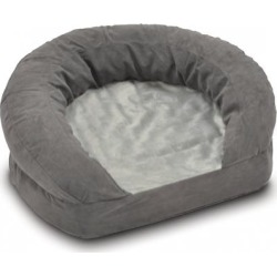 K & H Pet Products Ortho Bolster Velvet Sleeper Pet Bed Small: 20' x 16' x 8'