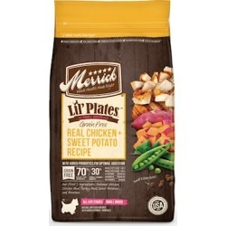 Merrick Lil' Plates Small Breed Grain Free Real Chicken and Sweet Potato Dry Dog Food 4-lb