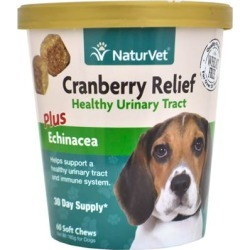 NaturVet Cranberry Relief Healthy Urinary Tract Plus Echinacea 60 Soft Chews