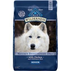 Blue Buffalo Wilderness Grain Free Senior Chicken Dry Dog Food 11-lb