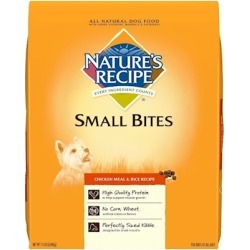 Nature's Recipe Small Bites Chicken Meal and Rice Dry Dog Food 15-lb