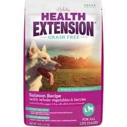 Health Extension Grain Free Salmon Recipe Dry Dog Food 10-lb