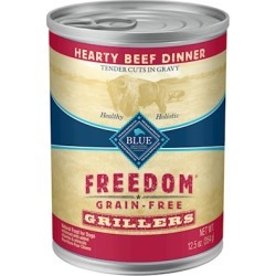 Blue Buffalo Freedom Grain Free Grillers Hearty Beef Dinner Canned Dog Food 12.5-oz, case of 12