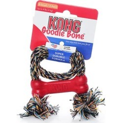 Kong Goodie Bone w/ Rope X-small - 4lbs (Only Toy/Teacup Breeds)