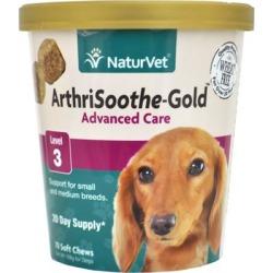 NaturVet ArthriSoothe-Gold Advance Care Small & Medium Breeds Level 3 (70 Soft Chews)