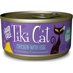 Tiki Cat Koolina Luau Grain Free Chicken With Egg In Chicken Consomme Canned Cat Food 6-oz, case of 8