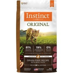 Nature's Variety Instinct Original Grain Free Recipe with Real Duck Natural Dry Cat Food 4.5-lb