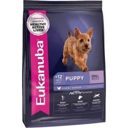 Eukanuba Small Breed Puppy Chicken Formula Dry Dog Food 15-lb