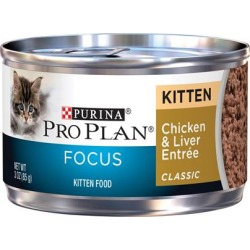 Purina Pro Plan Focus Kitten Classic Chicken and Liver Entree Canned Cat Food 3-oz, case of 24